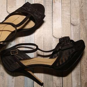 Kate Spade Now Tie Peep Toe Heels
